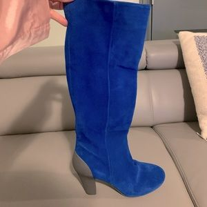 Gorgeous Blue Suede Boots